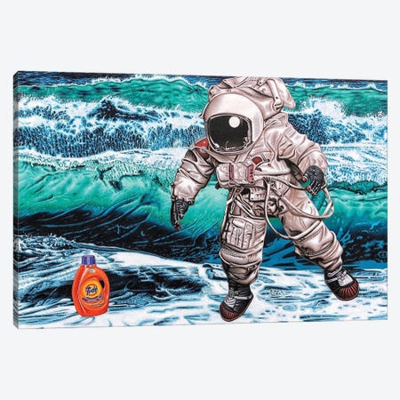 The Search For Intelligent Life On Earth Canvas Print #HLL35} by Stephen Hall Canvas Artwork
