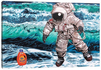 The Search For Intelligent Life On Earth Canvas Art Print