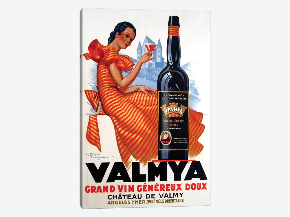 Valmya Grand Vin Généreux Doux, 1937 by Henri Le Monnier 1-piece Canvas Artwork