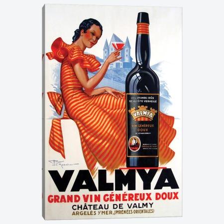 Valmya Grand Vin Généreux Doux, 1937 Canvas Print #HLM1} by Henri Le Monnier Art Print