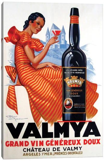 Valmya Grand Vin Généreux Doux, 1937 Canvas Art Print