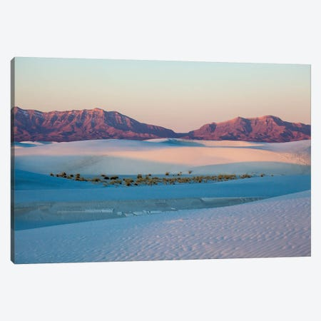 New Mexico. White Sands National Monument landscape of sand dunes and mountains I Canvas Print #HLO12} by Hollice Looney Canvas Artwork