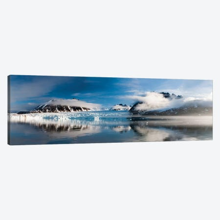 Norway, Svalbard, Monaco Glacier Canvas Print #HLO14} by Hollice Looney Art Print