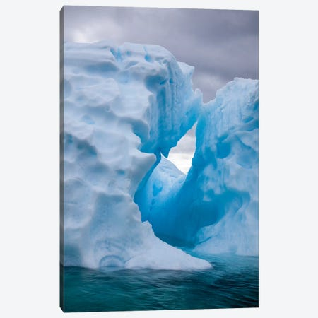 Antarctica, Lemaire Channel, iceberg in the Lemaire Channel 3-Piece Canvas #HLO1} by Hollice Looney Canvas Art Print