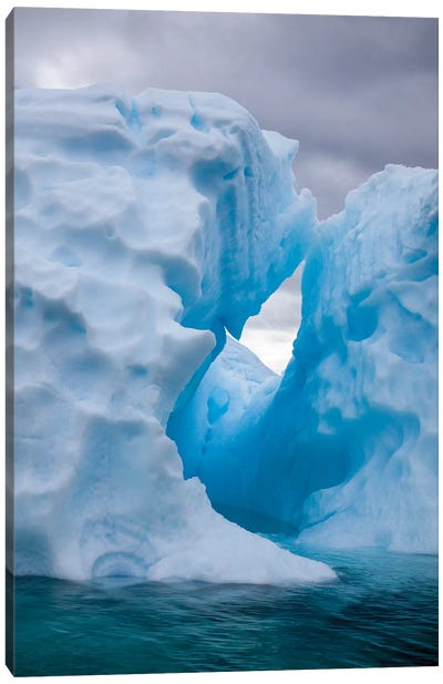 Antarctica, Lemaire Channel, iceberg in the Lemaire Channel Canvas Art Print