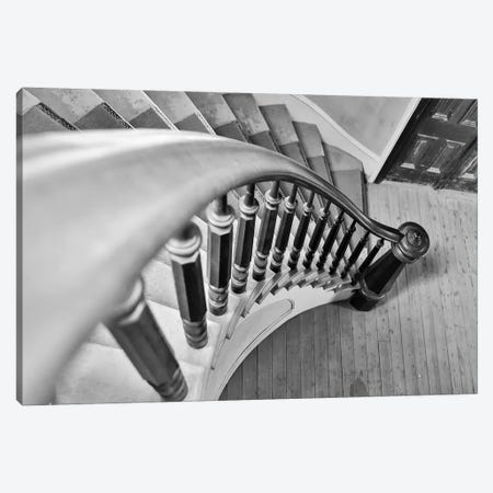 USA, Montana, Bannack State Park, Staircase Canvas Print #HLO29} by Hollice Looney Art Print