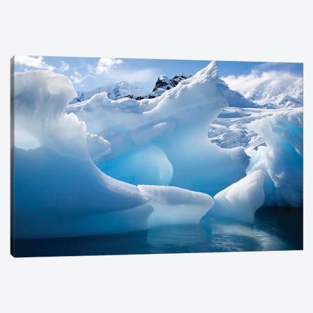 Antarctica, Paradise Bay, iceberg 3-Piece Canvas #HLO2} by Hollice Looney Canvas Print