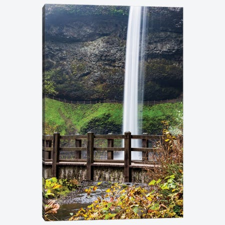 USA, Oregon, Silver Falls State Park, Falls Canvas Print #HLO37} by Hollice Looney Art Print