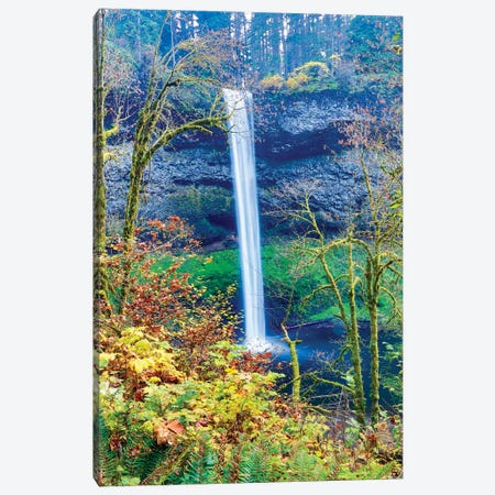 USA, Oregon, Silver Falls State Park, South Falls Canvas Print #HLO38} by Hollice Looney Canvas Wall Art