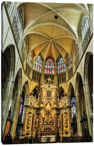 France, Toulouse. Cathedral of St. Etienne interior. Canvas Art Print