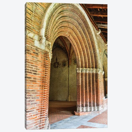 France, Toulouse. Church of the Jacobins arched entrance to the courtyard. Canvas Print #HLO62} by Hollice Looney Canvas Art Print