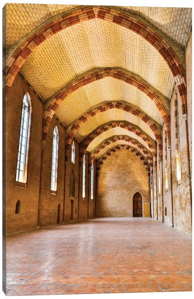 France, Toulouse. Church of the Jacobins Great Hall. Canvas Art Print