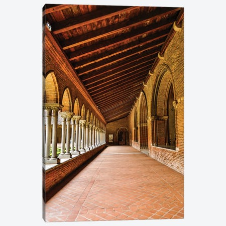 France, Toulouse. Columns of the inner courtyard at the Church of the Jacobins Canvas Print #HLO67} by Hollice Looney Canvas Art