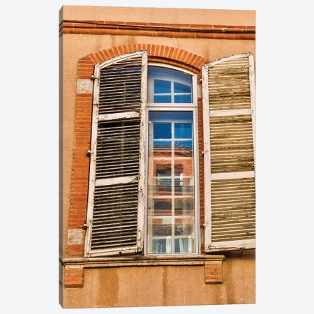 France, Toulouse. Window and shutters in the streets of Toulouse Canvas Print #HLO71} by Hollice Looney Canvas Art