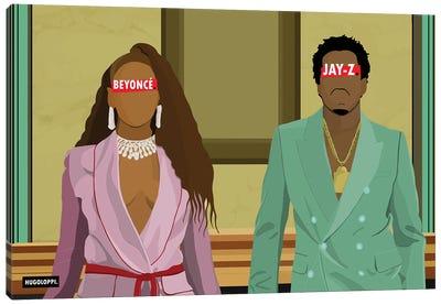 Jay-Z & Beyoncé Canvas Art Print