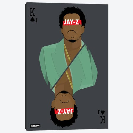 Jay-Z Canvas Print #HLP12} by Hugoloppi Canvas Art Print