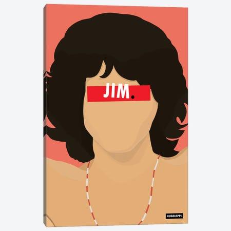 Jim Morrison Canvas Print #HLP22} by Hugoloppi Canvas Artwork