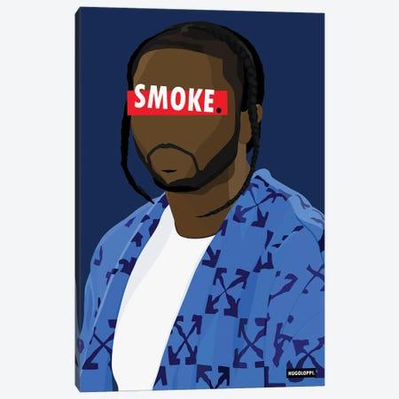 Affiche Pop Smoke Canvas Print #HLP2} by Hugoloppi Art Print