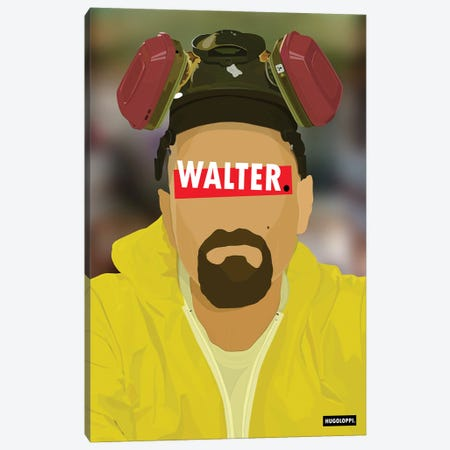 Walter White Canvas Print #HLP3} by Hugoloppi Art Print