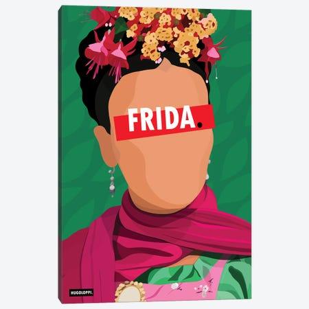 Frida Kahlo Canvas Print #HLP6} by Hugoloppi Canvas Wall Art