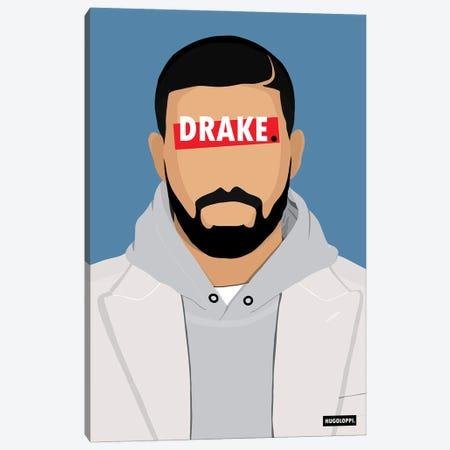 Drake Canvas Print #HLP7} by Hugoloppi Canvas Wall Art