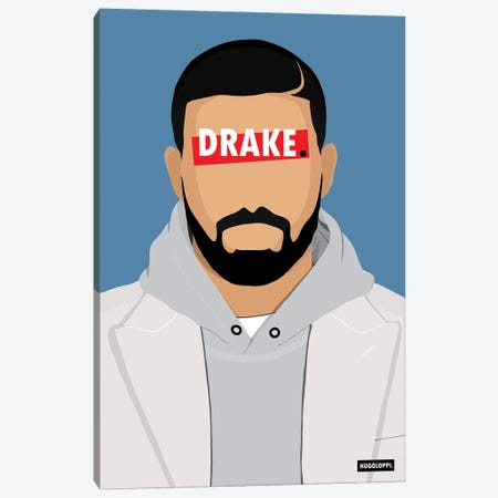Drake Canvas Print #HLP7} by Hugoloppi Canvas Wall Art