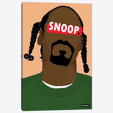 Snoop Dogg Canvas Print #HLP8} by Hugoloppi Canvas Print