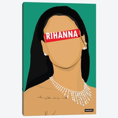 Rihanna Canvas Print #HLP9} by Hugoloppi Canvas Print