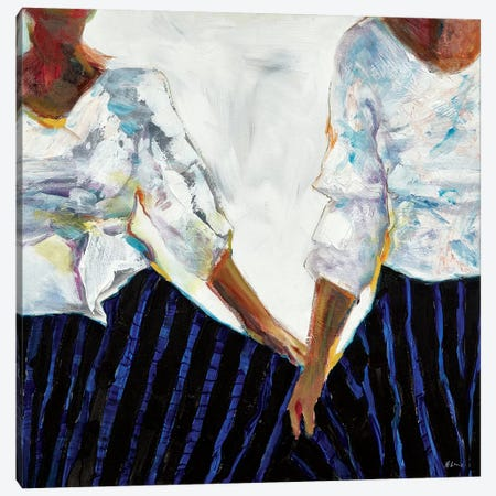 The Barriers We Break Canvas Print #HLU100} by Hodaya Louis Canvas Art Print