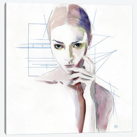 Thinking Canvas Print #HLU104} by Hodaya Louis Canvas Artwork