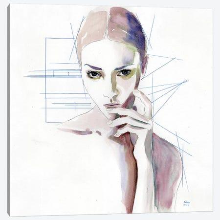 Thinking Canvas Print #HLU104} by Hodaya Louis Canvas Artwork