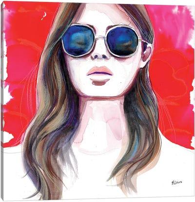 Ultramarine Rays Canvas Art Print
