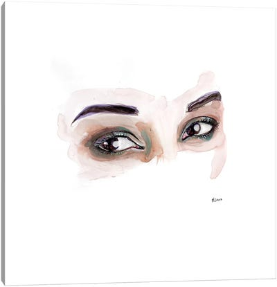 Brown Eyed Girl Canvas Art Print