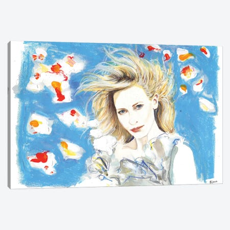 Cate In The Wind Canvas Print #HLU17} by Hodaya Louis Canvas Art Print