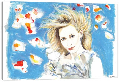 Cate In The Wind Canvas Art Print