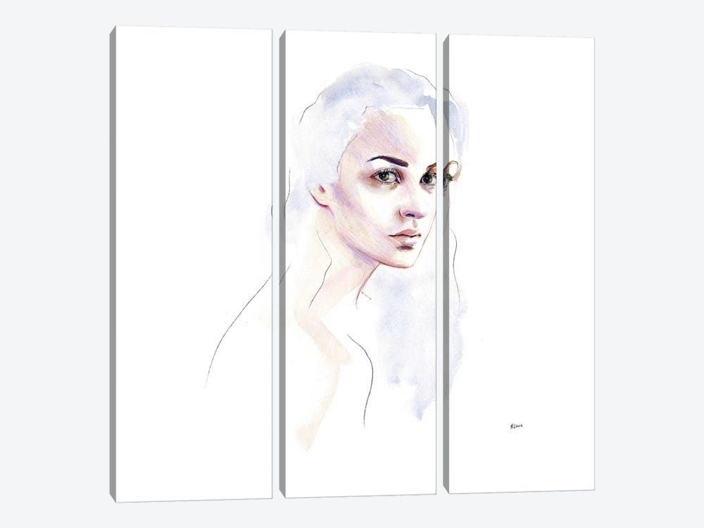 Cloud Hair by Hodaya Louis 3-piece Canvas Print