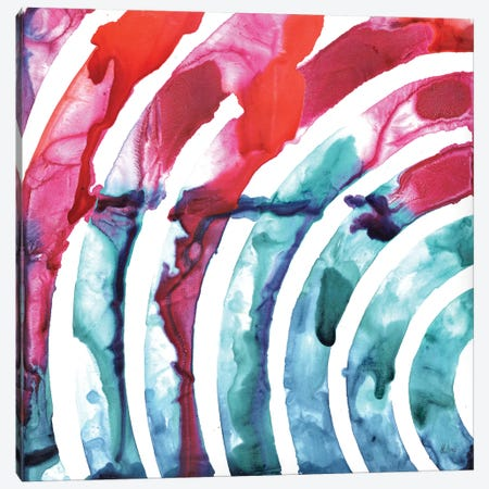 Color Waves Canvas Print #HLU24} by Hodaya Louis Canvas Art