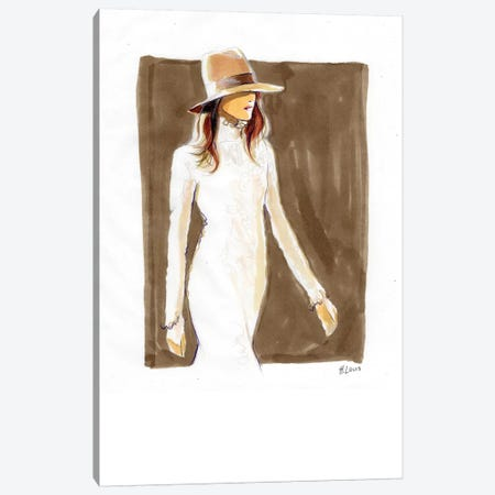 Cowgirl In Lace Dress Canvas Print #HLU26} by Hodaya Louis Canvas Wall Art