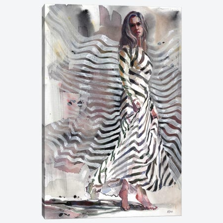 Dancing Queen Canvas Print #HLU29} by Hodaya Louis Canvas Art Print