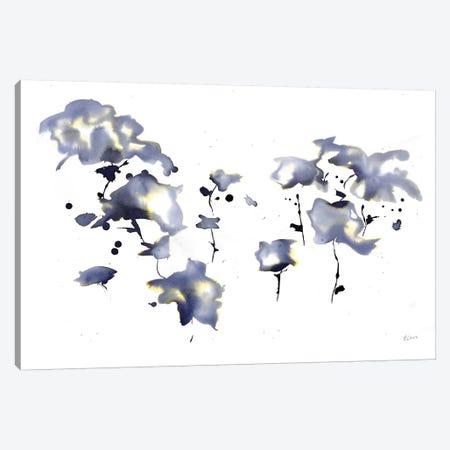 Dark Flowers Canvas Print #HLU30} by Hodaya Louis Canvas Artwork