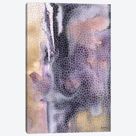 Faceted Glass Canvas Print #HLU35} by Hodaya Louis Art Print