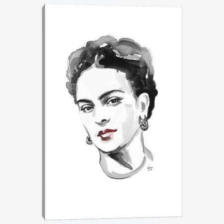 Frida Kahlo Canvas Print #HLU38} by Hodaya Louis Canvas Art