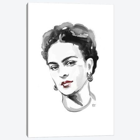 Frida Kahlo Canvas Print #HLU38} by Hodaya Louis Canvas Art