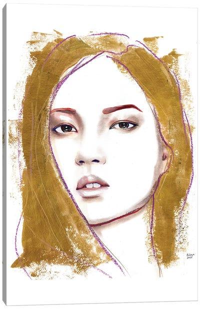 Gold Hiar Canvas Art Print