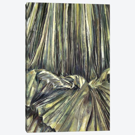 Gold Pleats Canvas Print #HLU42} by Hodaya Louis Art Print