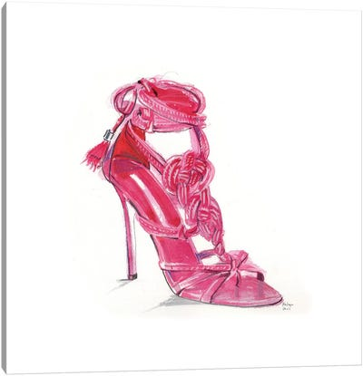 Hot Pink Sandal Canvas Art Print