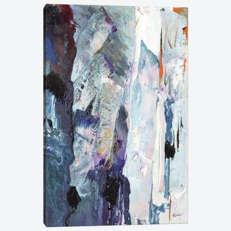 Icebergs Canvas Print #HLU48} by Hodaya Louis Canvas Art Print