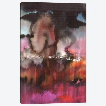 Landscape In Magenta Canvas Print #HLU55} by Hodaya Louis Canvas Art Print