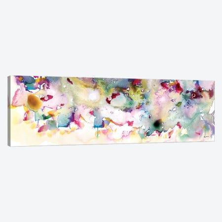 Magenta Field Canvas Print #HLU59} by Hodaya Louis Canvas Art