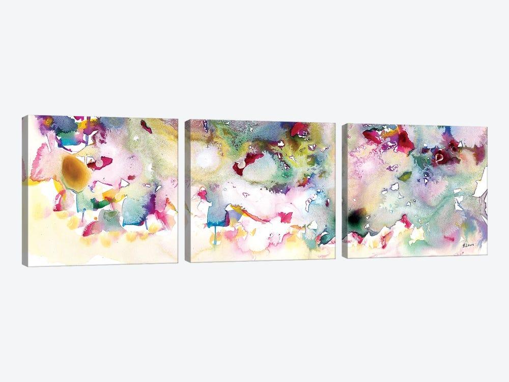 Magenta Field by Hodaya Louis 3-piece Canvas Wall Art